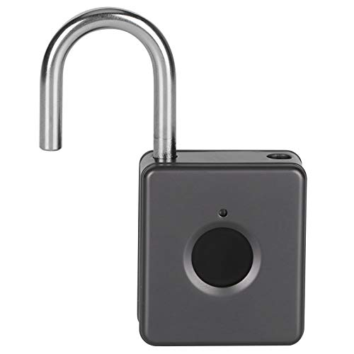 Low Power Consumption Speed Recognition Anti‑Theft Padlock Smart Padlock Lightweight Store 10 Fingerprints,for Dormitory