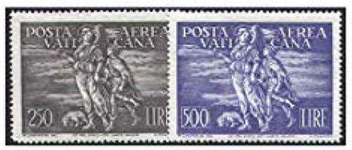 Goldhahn Vatikan Nr. 147-148 postfrisch  Flugpostmarken 1948  Briefmarken für Sammler