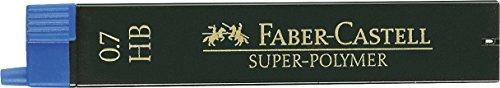 Faber Castell B-9067-HB - Blíster tubo de 12 minas, 0.7 mm HB, color negro