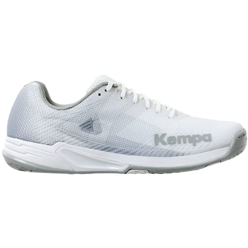 Kempa Wing 2.0 Women, Scarpe da Pallamano Donna, Bianco Grigio, 42.5 EU
