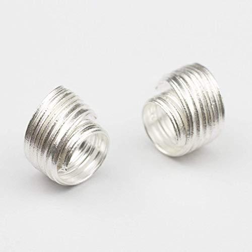 Ohrstecker Silber Creolen Statement Spiral Ohrringe handgemachter Goldschmied Schmuck