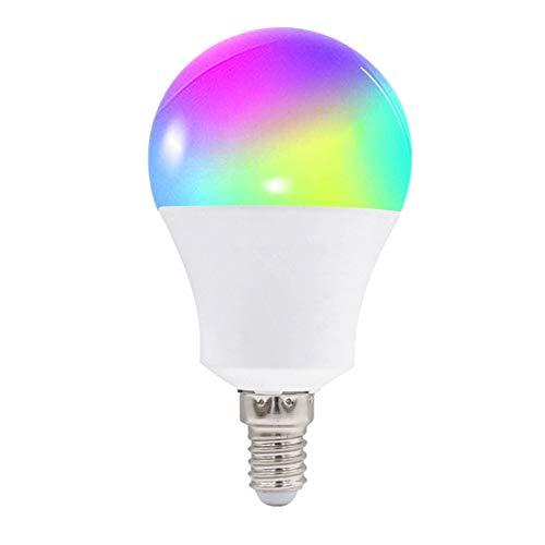 LEEBA Bombilla inteligente WiFi, 10W, intensidad regulable, luz LED, control remoto, no requiere Hub, funciona con Alexa y Google Home - E26, E27, B22, E14, clase energética A+