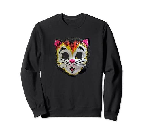 Disfraz de gato de Halloween Mscara de gatito lindo regalo divertido para nios Sudadera