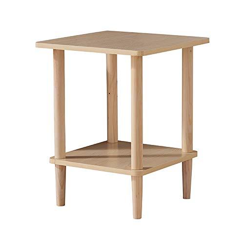 Axdwfd Table latérale de snack de table basse de table basse en bois solide de table, très appropriée à la table de chevet de canapé de salon 2 tailles (taille : 40 * 40cm)