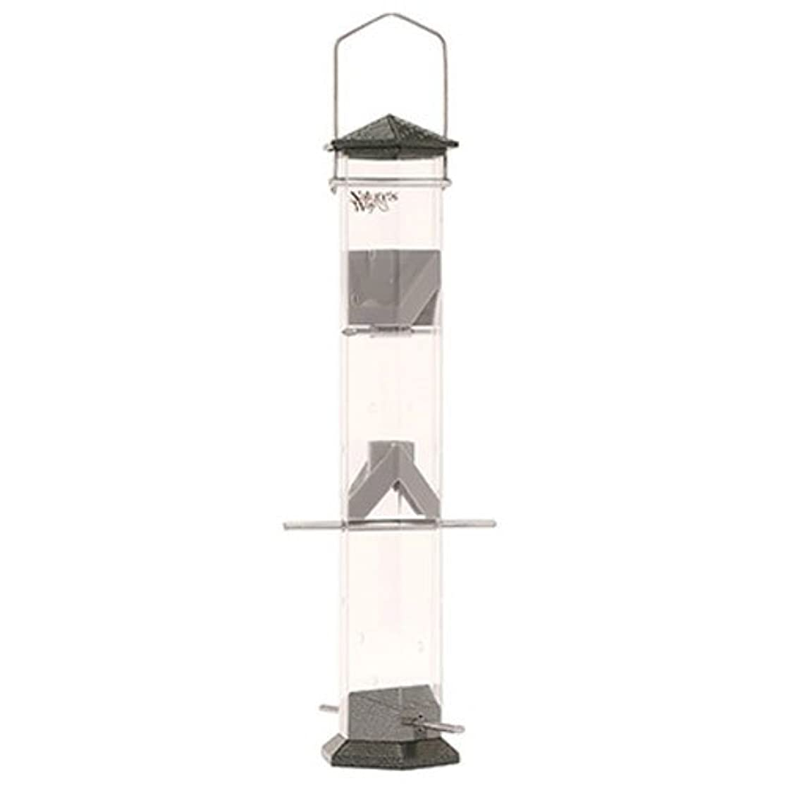Nature's Way Bird Products DT17-P Deluxe Twist and Clean Thistle Feeder, 17-Inch, Pewter laotsfop2