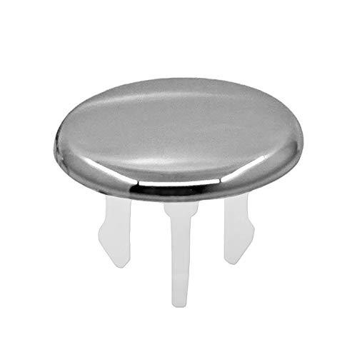 Waschbecken Design Überlauf Abdeckung, Überlaufblende - KNOPPO® Set - 2 x Cap (chrom)