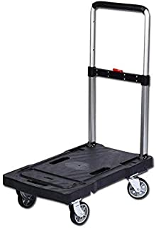 Folding trolley to carry and transport luggage for home and garden