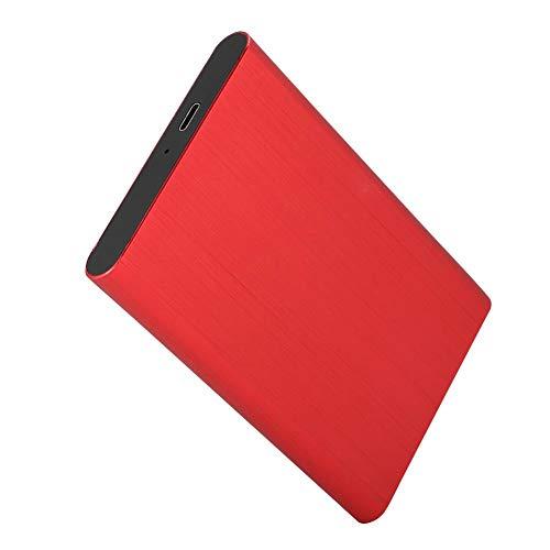 10 G bps flerfärg hållbar mobil USB-låda, bärbar HDD-hölje, för företag för 98/SE/ME/2000/XP/7/8/10(röd)