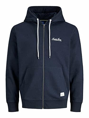 Jack & Jones Jortons Sweat Zip Hood Noos Sweatshirt Capuche, Blazer Bleu Marine, L Homme