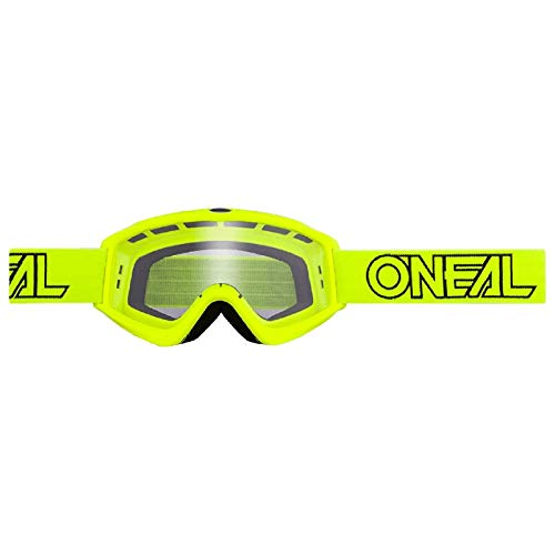 O'Neal B-Zero MX Enduro 6025-10 - Gafas de motocross, todo el año, color amarillo neón, tamaño talla universal