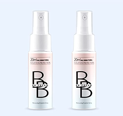 2pcs Concealer Makeup Spray BB Cream Matte Oil Control Whitening Waterproof Sweatproof Long Lasting Brightening Brighten? Skin Tone, Full Cover Eye Bags & Dark Circles & Pores & Pimple Acne Mark