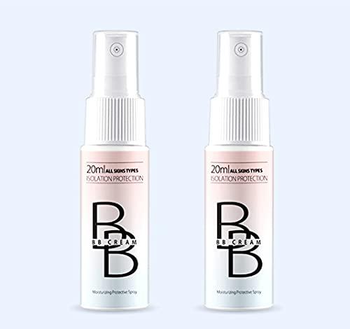 YAMAI 2pcs BB Cream Spray, Concealer Makeup Spray BB Cream Matte Oil Control Whitening Waterproof Sweatproof Long Lasting Brightening Brighten-Whitening Spray