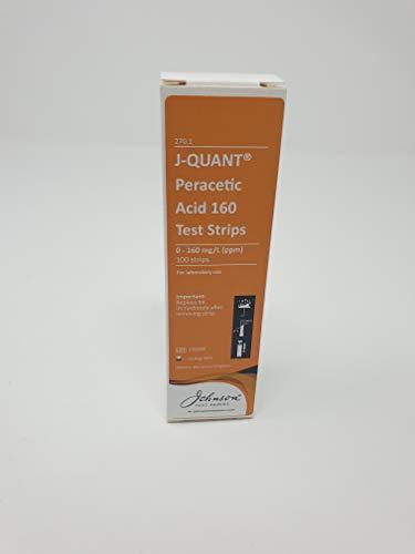 Peracetic Acid 0-160 Test Strips