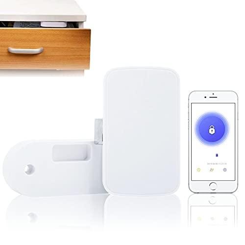 Cerradura electrónica para armario, aplicación Bluetooth, cerradura de cajón, desbloqueo sin llave, cerradura inteligente para archivadores de zapatos, a prueba de bebés y seguridad para niños, adecua