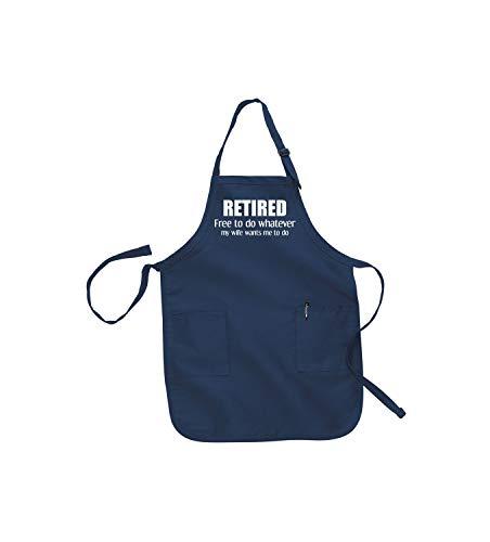 H421ld regalo de jubilación para el hombre regalos de jubilación personalizados regalos de jubilación divertidos delantales para hombres hombre delantal parrilla marido regalo