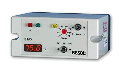 RESOL E1/D Temperaturdiffenrenzregler inkl. 3 Pt1000 Sensoren (1 x FKP6, 2 x FRP6)