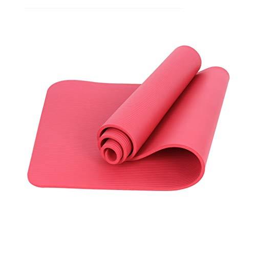 RENRUIRUI- Eco Yoga Mat 10 Mm Ultradicke, rutschfeste Yoga-Fitnessmatte Mit Hoher Dichte Yoga Pilates Bodenübung Bodentraining Größe: 183x68cm (Color : Pink)