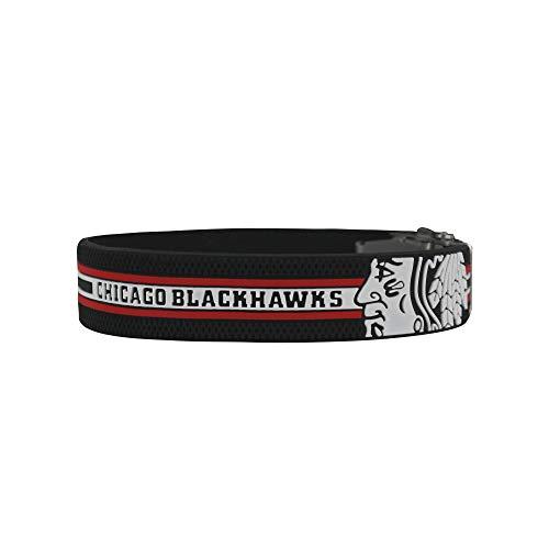 BRAYCE® Armband Chicago Blackhawks I NHL® Trikot am Handgelenk Größen selbst anpassen I Armband verstellbar mit Puck Haptik als Geschenk für Eishockey Fans & Eishockeyspieler