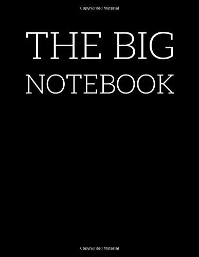 THE BIG NOTEBOOK THE BIG NOTEBOOK Extra Large Notebook 8 5 x 11 590 Lined Ruled Pages Giant product image