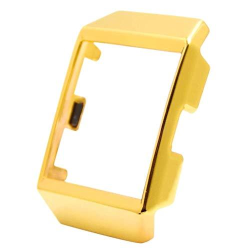 Baluue kompatibel für Fitbit Ionic Watch Screen rundum schützender metallrahmen stoßfeste uhrenabdeckung (golden)
