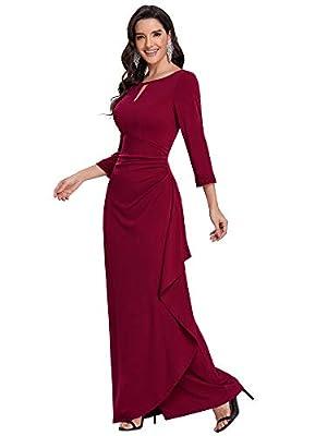 Ever-Pretty Women Slim Fit Bridesmaid Dress Wedding Guest Dress Burgundy US20
