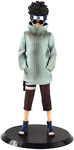 ナルト-油女シノ(22cm / 8.6in)この葉村静的スタンスアクションフィギュア漫画キャラクターアニメフィギュア/人形/彫像/モデルPVC素材おもちゃ/コレクション/装飾/ギフト