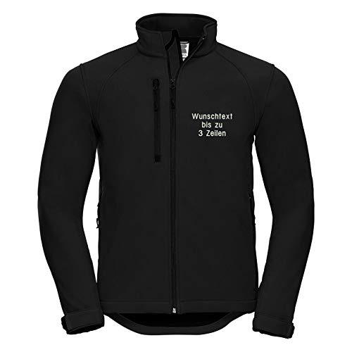 Nashville print factory Softshelljacke Bestickt mit Wunschtext/Namen Softshell-Jacke Arbeitsjacke (4XL)