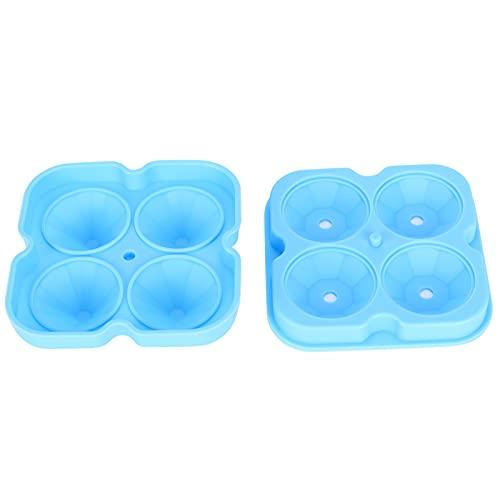 Annjom Molde de Cubo de Hielo, Molde de Bola de Hielo de 4 Rejillas para el hogar para la Oficina para Bar(Blue)