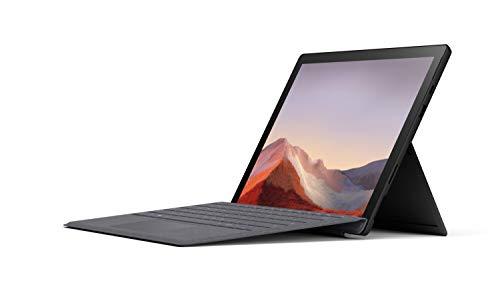 """Microsoft Surface Pro 7 Ordinateur Portable (Windows 10, écran Tactile 12.3"""", Intel Core i5, 8Go RAM, 256Go SSD, Noir) + Clavier AZERTY français Type Cover Anthracite"""