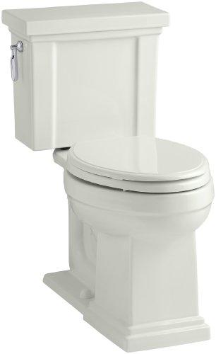 KOHLER K-3950-NY Tresham Comfort Height Two-Piece Elongated 1.28 GPF Toilet with AquaPiston Flush Technology and Left-Hand Trip Lever, Dune