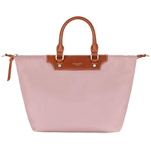 David Jones - Bolso Tote Nylon Mujer - Shopper Nailon Impermeable - Bolso de Mano Plegable - Bolso de Hombro Bandolera Gran Capacidad - Totalizador Shopping Bag - Viaje Playa Comprar Moda - Rosa
