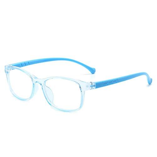 Fancysweety Gafas de Sol polarizadas con diseño de Marco con Forma de cartón Colorido para niños Gafas Protectoras de Gel de sílice Gafas