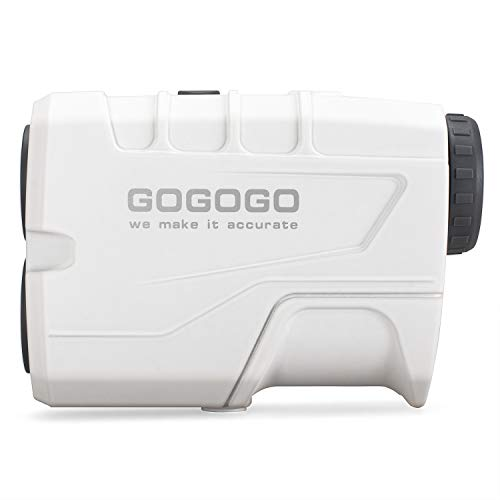 Gogogo Sport Golf Rangefinder 900 Yards Slope Laser Range Finder with Pinsensor 6X Magnification, Pulse Tech - Compact & Accurate & Clear Reading Yardage Rangefinder