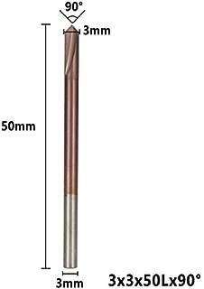 Hefute Fraise /à chanfreiner en V avec rev/êtement en titane pour rainure en V 90 degr/és pour fraisage CNC et chanfreinage 2//3//4//5//8//10//12 mm de diam/ètre