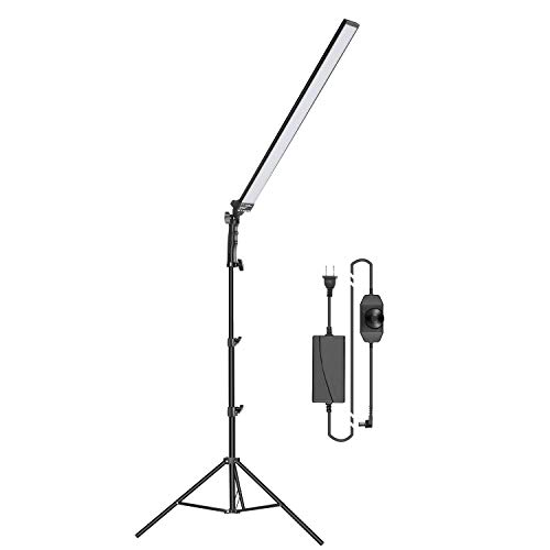 Neewer 60 LED Video Light Photography LED Lighting Kit: Light Wand Handheld LED Light Stick 5500K with Adjustable Brightness, 2 Meters Light Stand for Photo Studio Portrait Product Shooting (1 Pack)