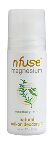 nfuse Natural Magnesium Roll-on Deodorant - Innovative Patented Magnesium Technology - Ultra Nourishing - Aromatherapeutic Essential Oils - Rosemary Mint: Relieve + Refresh