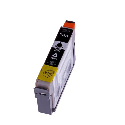 Premium cartucho de tinta para Epson T 1811T1811con chip para Epson Expression Home XP 30/XP 102/XP 202/XP 205/XP 302/XP 305/XP 402/XP 405(Black/Negro)