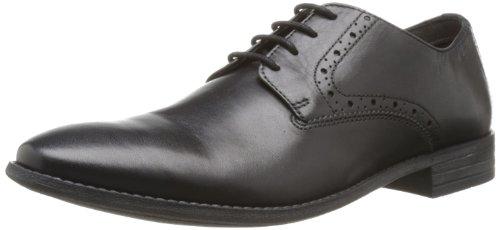 Clarks Herren Chart Walk Derby, Schwarz (Black Leather), 43