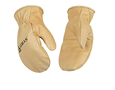 KINCO 1930-L Men's Axeman Lined Cowhide Gloves, Mitten, Heat Keep Thermal Lining, Large, Golden