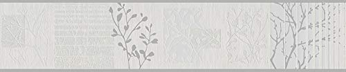 A.S. Création Bordüre Life 2, beige, grau, metallic, 305411