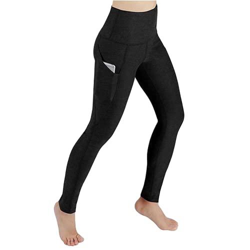 QTJY Leggings de Fitness de Cintura Alta, Pantalones de Yoga para Correr de Entrenamiento para Mujeres, Pantalones elásticos Delgados de Entrenamiento Deportivo Am
