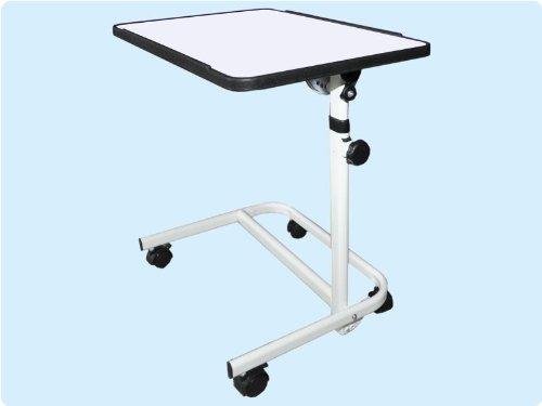 Teckmedi Beistellwagen Krankentisch Beistelltisch Beistell-Tisch Bett-Tisch/weiß fahrbar TOP-QUALITÄT