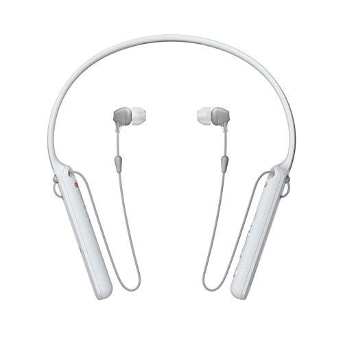 Sony WI-C400 kabellose In-Ear-Kopfhörer mit 7,5 Stunden Akkulaufzeit weiß