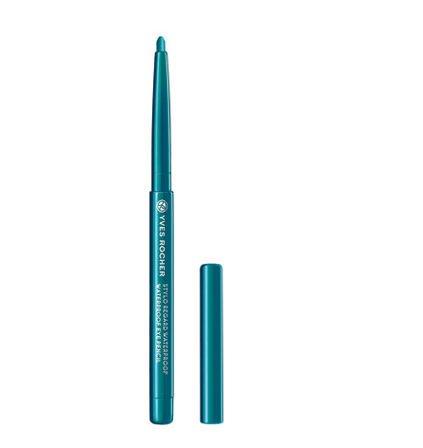 Yves Rocher COULEURS NATURE wasserfester Augenkonturen-Stift Turquoise, Eyeliner Drehstift,...