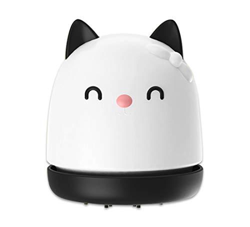 USB Desktop Vacuum Desk Dust Cleaner Mini Table Cat Vaccum Scraps, Collector Kitchen Gadget Office Supplies for Mom, Student, Women