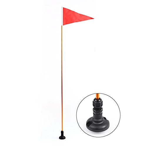 Blusea Kajak-Sicherheitsflagge,Kajak Sicherheit Flag Mount Kit Universal Kajak DIY Zubehör für Boot Kanu Yacht Dinghy