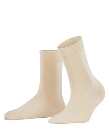 FALKE Damen Socken Cotton Touch - Baumwollmischung, 1 Paar, Elfenbein (Cream 4019), Größe: 39-42