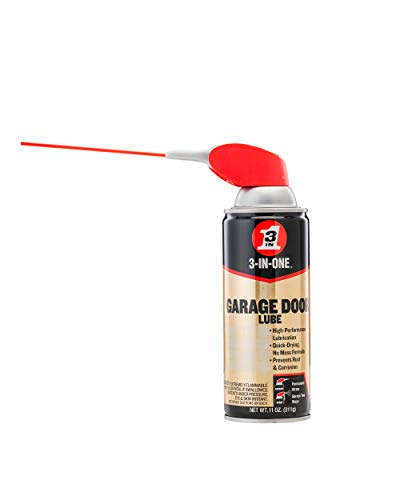 3-IN-ONE 100581 Professional Garage Door Lubricant with SMART STRAW SPRAYS 2 WAYS 11 OZ [6-Pack]