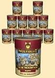 Warnicks Wolfsblut Blue Mountain Puppy - Comida húmeda para cachorros con carne de caza (6 x 395 g)