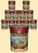 Warnicks Tierfutterservice Wolfsblut Blue Mountain Puppy Nassfutter für Welpen mit Wildfleisch 6 x 395 g